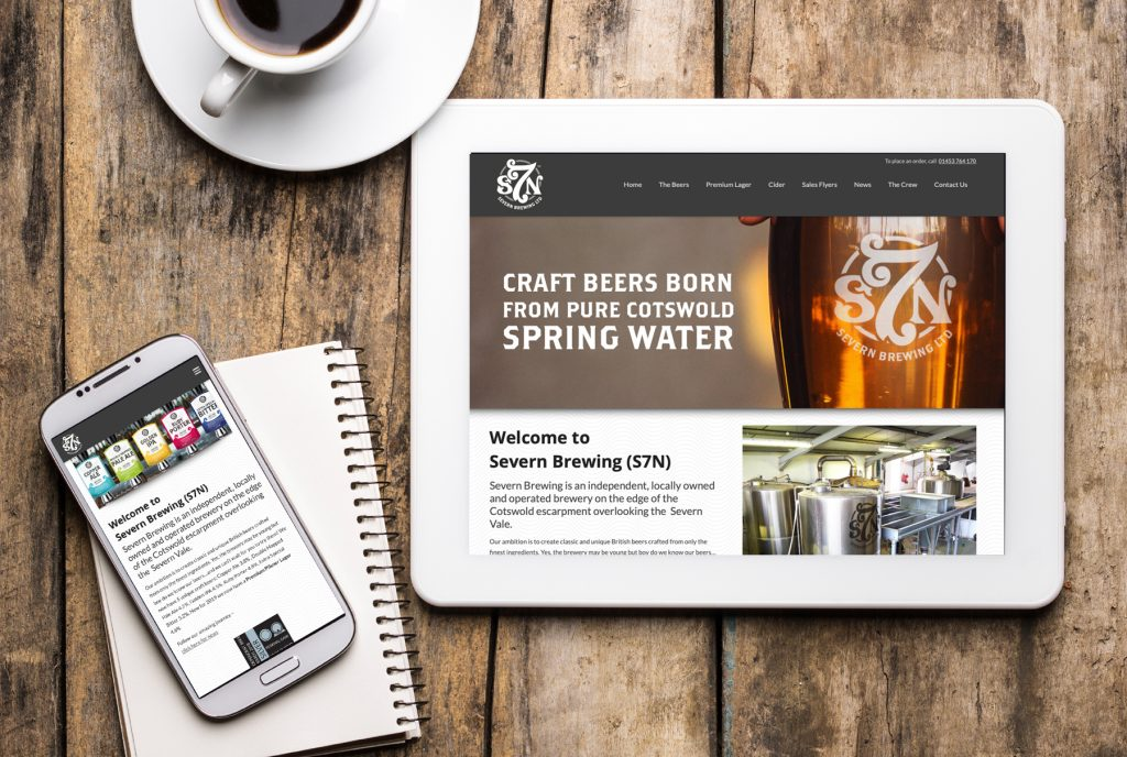 food and drink website design